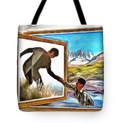 Night At The Art Gallery - One To Another Tote Bag