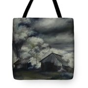Night Barn Tote Bag by James Christopher Hill