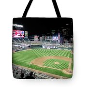 Night Baseball In Minneapolis Tote Bag
