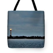 Night Beacon - Cape May Lighthouse Tote Bag
