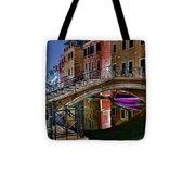Night Bridge In Venice Tote Bag