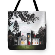 Italian House Country House Detail From Night Bridge  Tote Bag