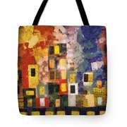 Night City Tote Bag by Michelle Calkins