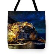 Night Comes To Manarola - Vintage Version Tote Bag