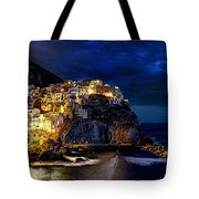 Night Comes To Manarola Tote Bag