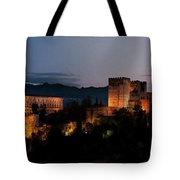 Night Comes To The Alhambra Tote Bag