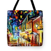 Night Etude - Palette Knife Oil Painting On Canvas By Leonid Afremov Tote Bag