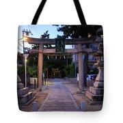 Night Falls On Esaka Shrine Tote Bag