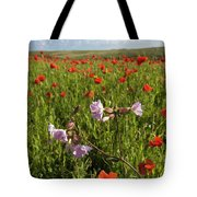 Night Flowering Catchfly And Poppies Tote Bag