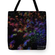Night Flowers Tote Bag