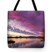 Night Gives Way To Dawn Tote Bag
