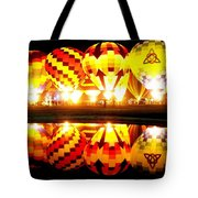 Night Glow At The Pond Tote Bag