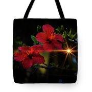 Night Hibiscus Tote Bag