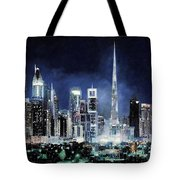 night in Dubai City Tote Bag