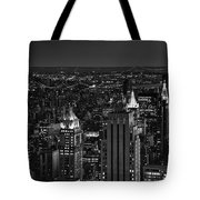 Night In Manhattan Tote Bag