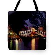 Night In Venice Tote Bag