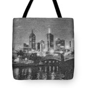 Night Landscape In Melbourne Tote Bag