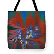 Night Life In The City Tote Bag