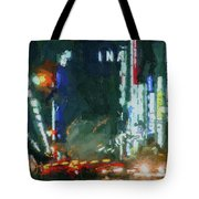 Night Lights City Tote Bag