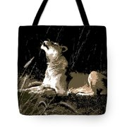 Night Lioness Tote Bag