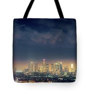 Night Los Angeles Skyline Tote Bag