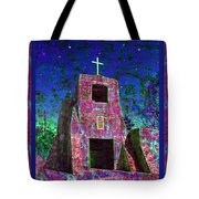 Night Magic San Miguel Mission Tote Bag