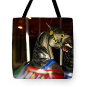 Night Mares At The Central Park Carousel 3 Tote Bag