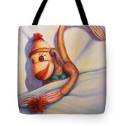 Night Night Sock Monkey Tote Bag