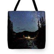 Night On The Blue River Tote Bag
