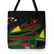 Night On The Green Fractures And Lights Tote Bag