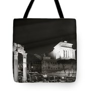 Night Panorama In Rome Tote Bag