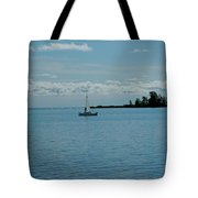Night Sailing At Port Hope Bay Michigan Tote Bag