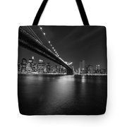 Night Scape Bw Tote Bag
