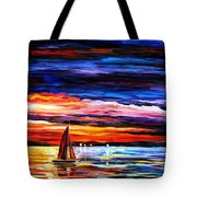 Night Sea  Tote Bag