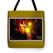Night Search No. 20 L A With Decorative Ornate Printed Frame. Tote Bag
