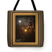 Night Search No. 8 H A With Decorative Ornate Printed Frame Tote Bag