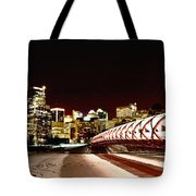 Night Shots Calgary Alberta Canada Tote Bag