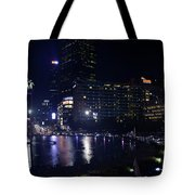 Night Skyline Of Jakarta Indonesia 4 Tote Bag