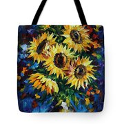 Night Sunflowers Tote Bag