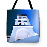 Night Taking Over The Day Of Church In Greece Crete 2 Tote Bag