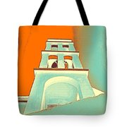 Night Taking Over The Day Of Church In Greece Crete 3 Tote Bag