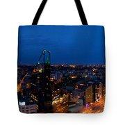 Night Tallinn City Line Panorama Tote Bag