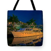 Night Time In Fort Lauderdale Tote Bag
