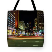 Night Time In The D Tote Bag