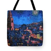 Night Time View Of Cork City Tote Bag