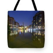 Night View Across River Avon To Temple Bridge Bristol England Tote Bag
