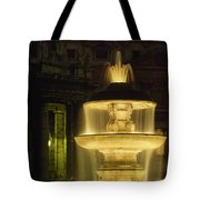 Night View Of A Fountain Outside Saint Tote Bag