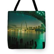 Night View Of St. Louis, Mo Tote Bag