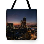 Night View Of The City Of London Tote Bag