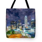 Night View Scenes Around Charlotte North Carolina Tote Bag